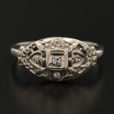 1930s 14K Diamond Ring