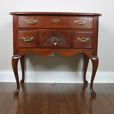 "Thomasville Queen Anne Style ""Collectors"" Cherrywood Side Table"