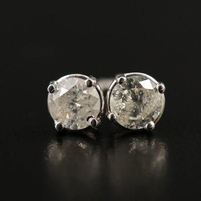 14K 1.09 CTW Diamond Stud Earrings