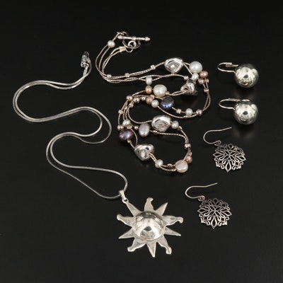 Jewelry Selection Featuring Sterling Silver and Pearl