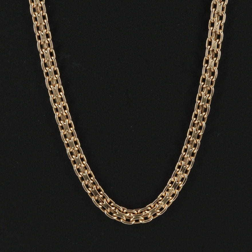 14K Infinity Link Necklace