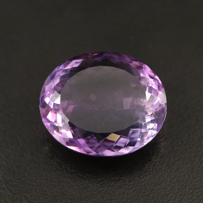 Loose 35.55 CT Oval Faceted Amethyst