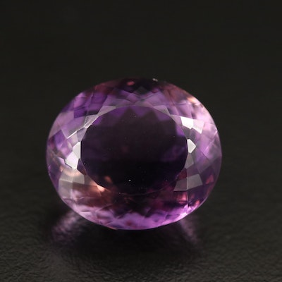 Loose 20.90 CT Oval Faceted Amethyst