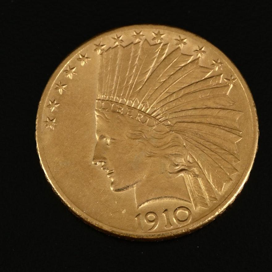 1910-D Indian Head $10 Gold Eagle