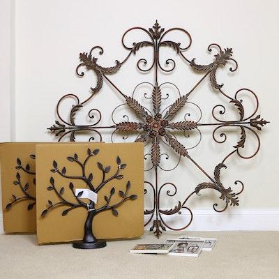 Wrought Metal Wall Decor and Hallmark Family Tree Photo Display