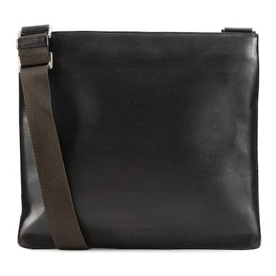 Prada Dark Brown Leather Crossbody
