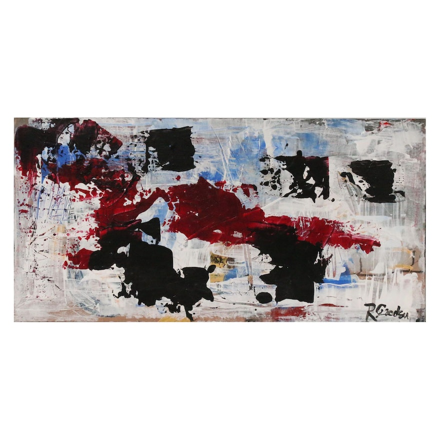 """Randy Groden Abstract Acrylic Painting """"Royce"""""""
