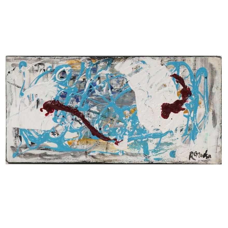 "Randy Groden Abstract Acrylic Painting ""Samos"""