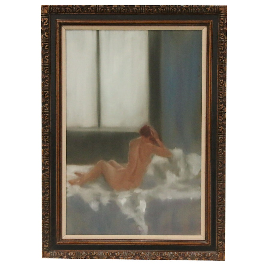 Anthony Autorino Figural Oil Painting, Late 20th Century