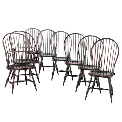 David T. Smith Ebonized Wood Windsor Chairs