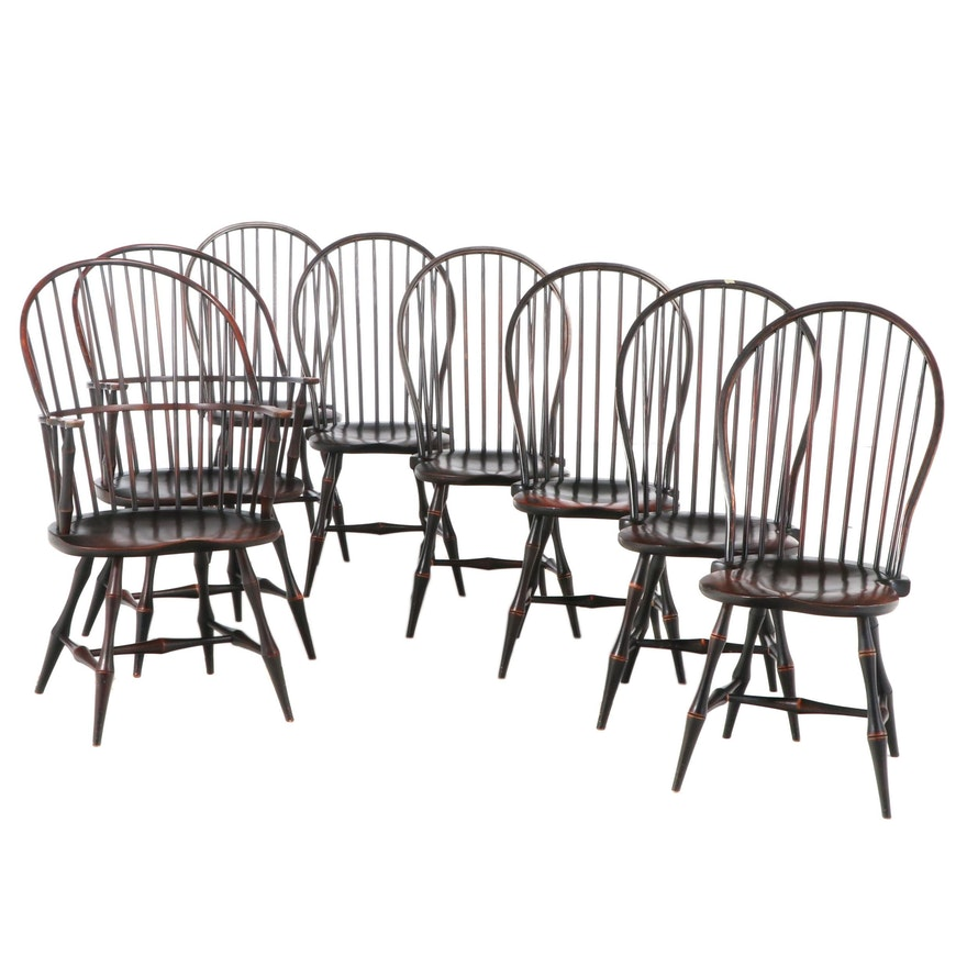 David T. Smith Ebonized Wood Windsor Chairs