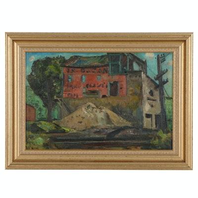 "John Ellsworth Weis Oil Painting ""The Dugan Building"""