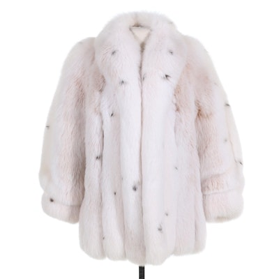 Saga Fox Full Pelt Lynx-Dyed Fox Fur Stroller Coat