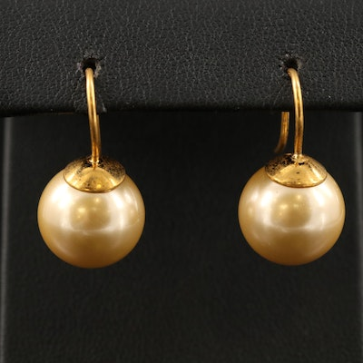 Sterling Silver Faux Pearl Drop Earrings