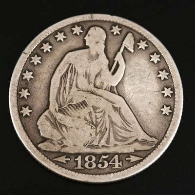 1854-O Liberty Seated Silver Half Dollar