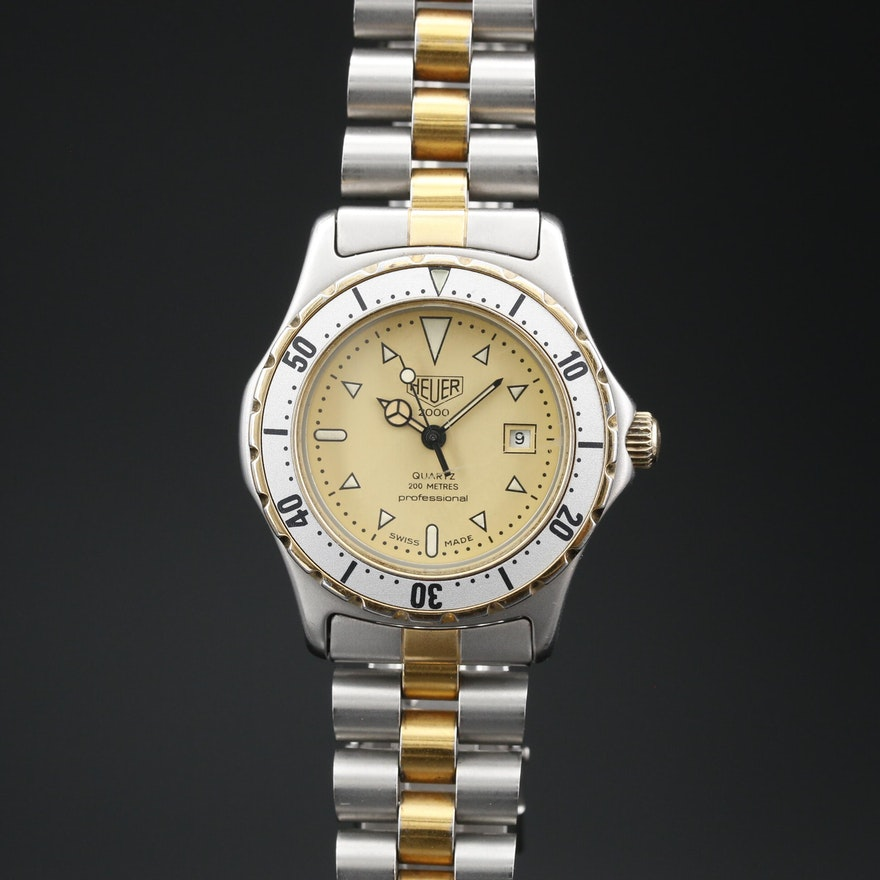 Vintage Heuer 2000 Two Tone Quartz Wristwatch