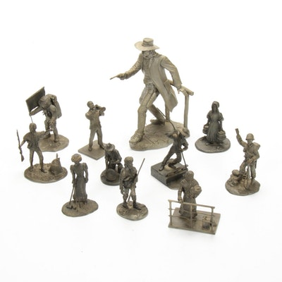 "Franklin Mint Pewter Figurines Including ""The Gunfighter"", Late 20th Century"