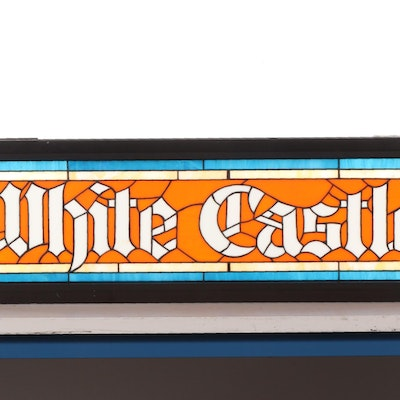 White Castle Stained Glass and Metal Signs, Late 20th Century
