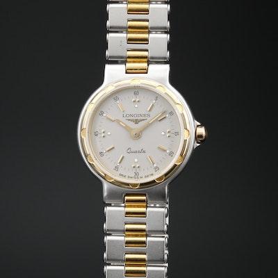Vintage Longines Conquest Two Tone Quartz Wristwatch