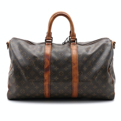 Louis Vuitton Keepall Bandoulière 45 Duffel in Monogram Canvas and Leather