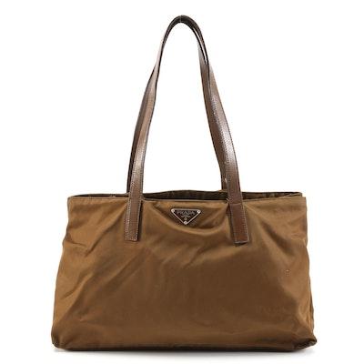 Prada Tessuto Nylon Shoulder Bag in Sughero