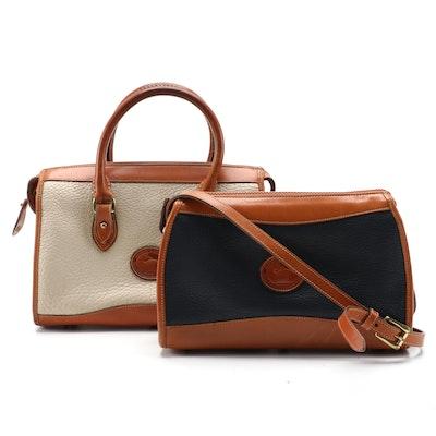 Dooney & Bourke All-Weather Leather Two-Way Satchel and Shoulder Bag, Vintage