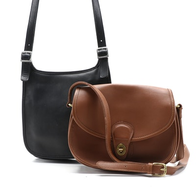 Coach Smooth Leather Shoulder Bags