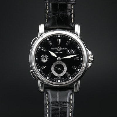 Ulysee Nardin Dual Time Stainless Steel Automatic Wristwatch