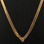 14K Herringbone Chain Chevron Necklace