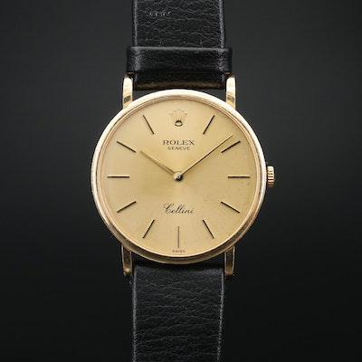 Rolex Cellini 18k Yellow Gold Manual Winding Wristwatch 1999