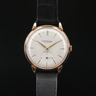 Vintage Girard - Perregaux 18K Rose Gold Stem Wind Wristwatch, Circa 1945