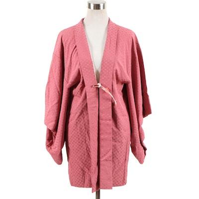 Japanese 羽織 Haori Jacket in Mauve Silk