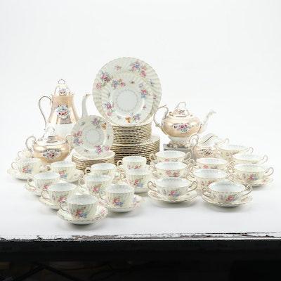 "English Minton ""Bala"" Dinnerware with Adderley & Co. Coffee and Tea Service"