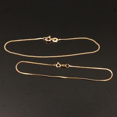 14K Bracelets in Serpentine and Fancy Links