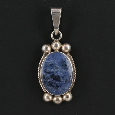 Mexican Sterling Silver Sodalite Pendant