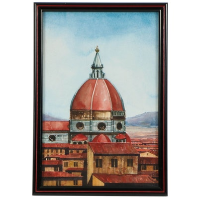 Florence Duomo Watercolor Painting