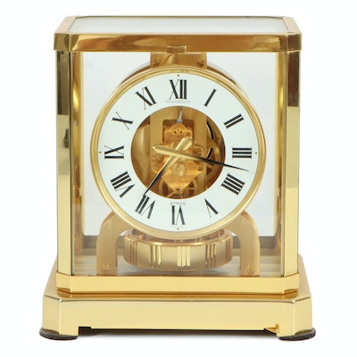 """Jaeger-LeCoultre """"Atmos"""" Brass Mantel Clock, Mid to Late 20th Century"""