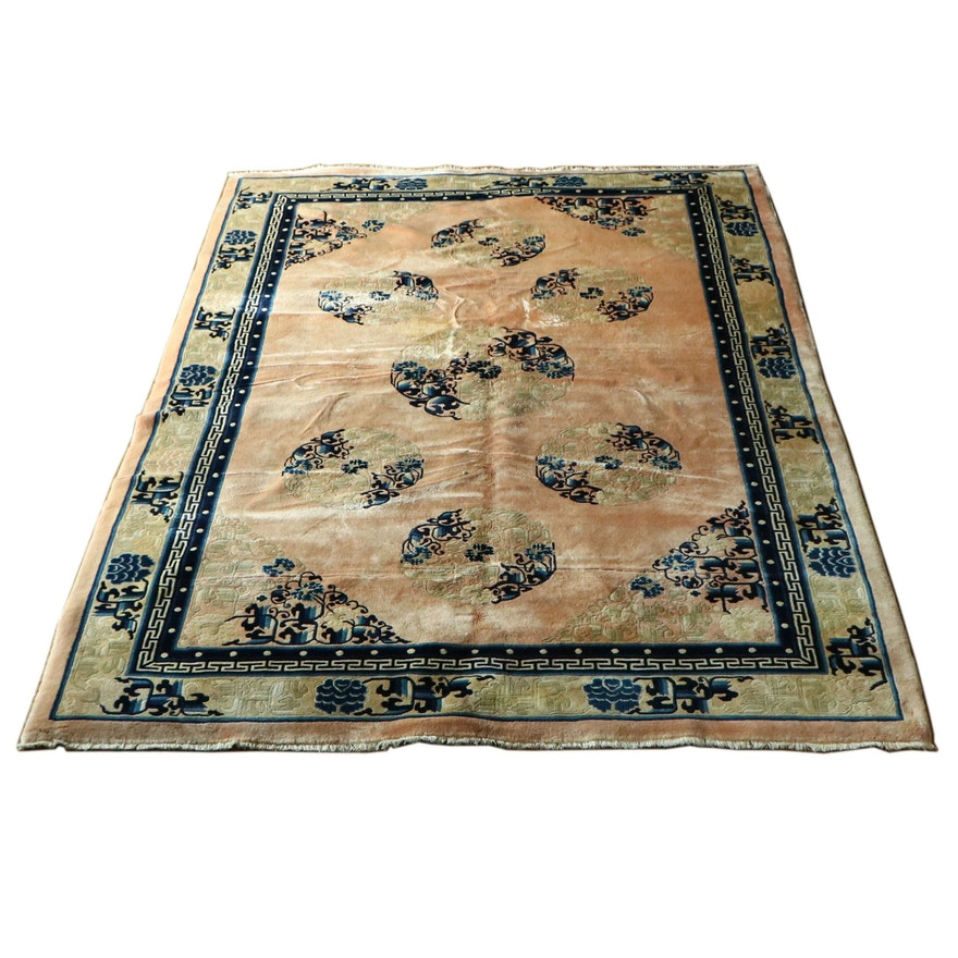 6' x 9' Hand-Knotted Chinese Area Rug