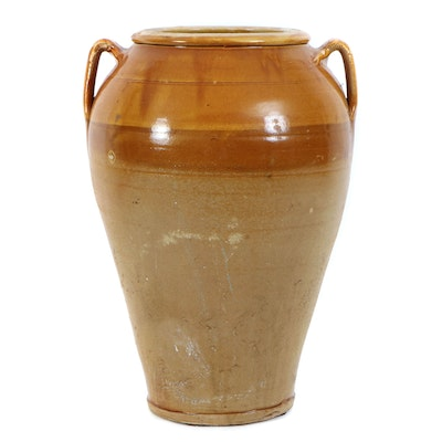 Multicolor Ceramic Amphora Floor Vase, Mid to Late 20th Century