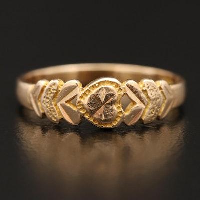 14K Heart Motif Ring