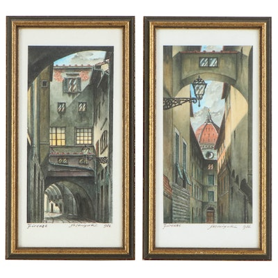 Yoshiyuki Watercolor Paintings of Florence Architecture, 1986