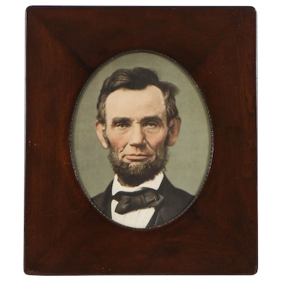 Abraham Lincoln Photoengraving in Period Frame, Late 19th Century