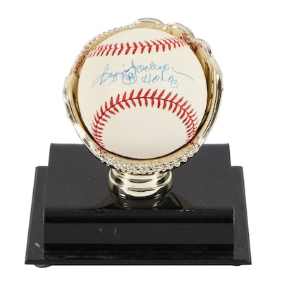 Reggie Jackson Autographed Major League Baseball with Acrylic Case