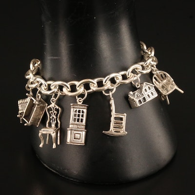 Sterling Furniture Motif Charm Bracelet