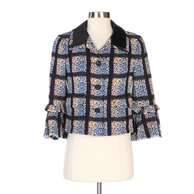 Chanel Multicolor Tweed Jacket with Flared Cuffs