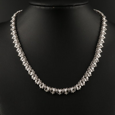 14K 1.32 CTW Diamond Choker Necklace
