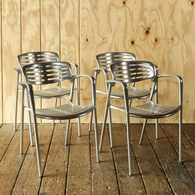"Jorge Pensi for Amat-3 ""Toledo"" Aluminum Chairs, 1980s"
