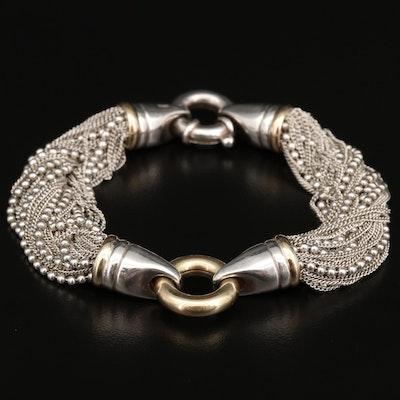 Sterling Silver Torsade Bracelet
