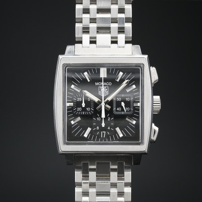 TAG Heuer Monaco Automatic Stainless Steel Chronograph Wristwatch