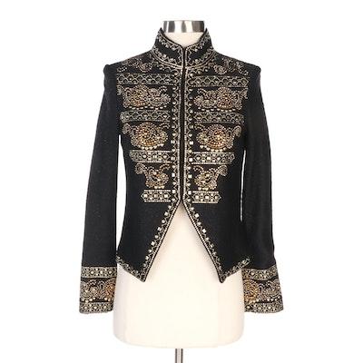 St. John Couture Studded Black Knit Jacket